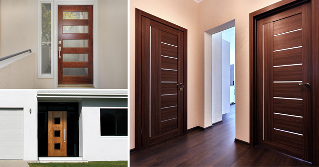 Custom MCM doors using locally resourced materials and modern levers and knobs. These doors simply fit mid-century modern or ranch style homes from an ... & Modern Doors | Home Building Materials Wholesale and Supply